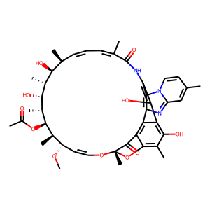 Rifaximin structure rendering