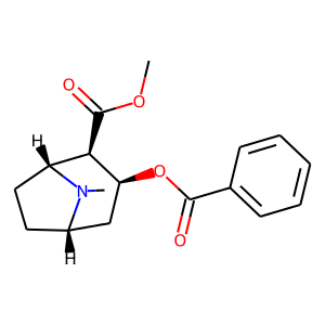 Cocaine structure rendering