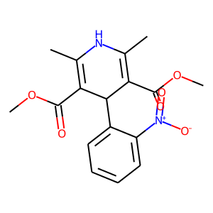Nifedipine structure rendering