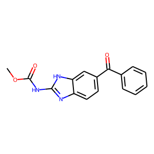 Mebendazole structure rendering