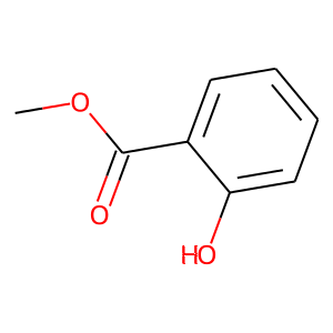 Methyl salicylate structure rendering