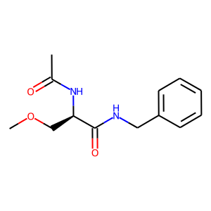 Lacosamide structure rendering