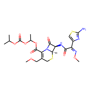 Cefpodoxime proxetil structure rendering