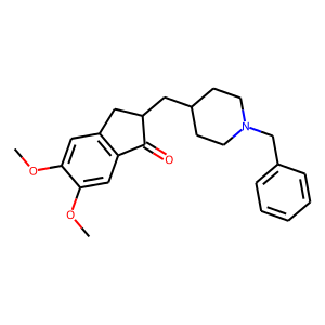 Donepezil structure rendering