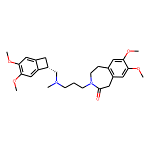 Ivabradine structure rendering