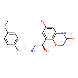 Olodaterol structure rendering