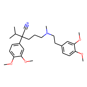 Verapamil structure rendering