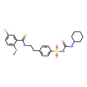 Glibenclamide structure rendering