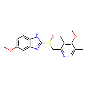 Omeprazole structure rendering