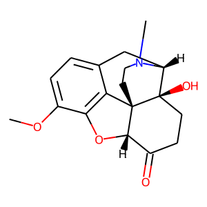 Oxycodone structure rendering