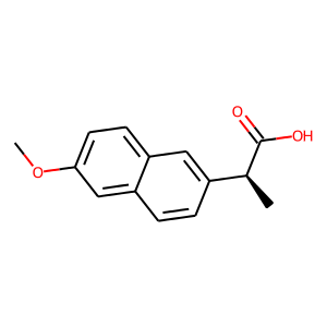 Naproxen structure rendering