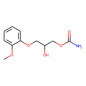 Methocarbamol structure rendering