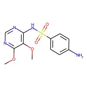 Sulfadoxine structure rendering