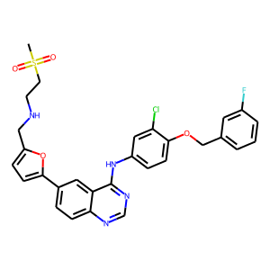 Lapatinib structure rendering