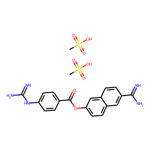Nafamostat mesylate structure rendering