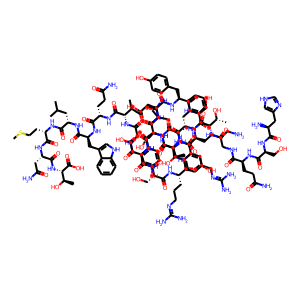 Glucagon structure rendering