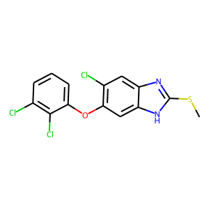 Triclabendazole structure rendering