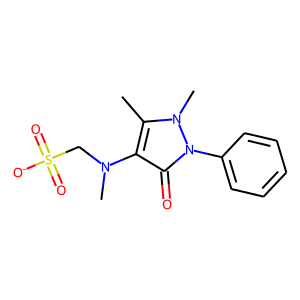 Dipyrone structure rendering