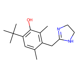 Oxymetazoline structure rendering