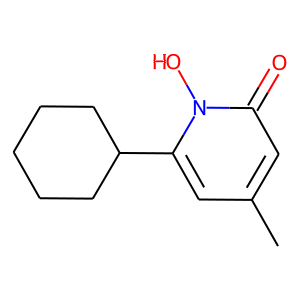 Ciclopirox structure rendering