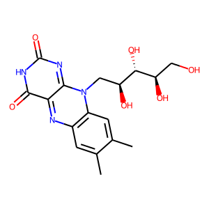 Riboflavin structure rendering