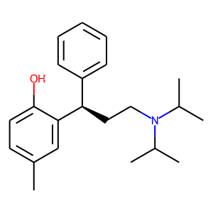 Tolterodine structure rendering