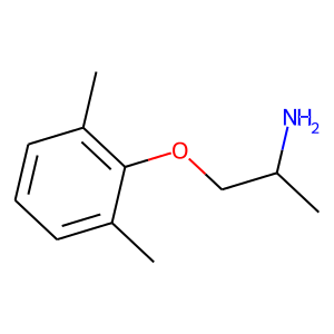 Mexiletine structure rendering