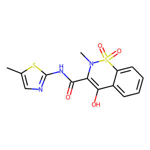 Meloxicam structure rendering