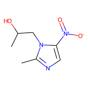 Secnidazole structure rendering