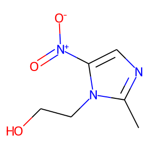 Metronidazole structure rendering