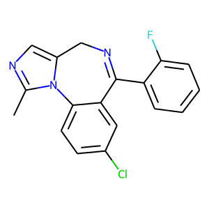Midazolam structure rendering