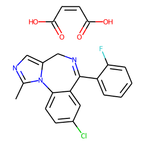 Midazolam maleate structure rendering