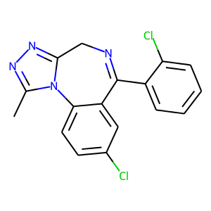 Triazolam structure rendering