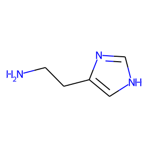 Histamine dihydrochloride structure rendering