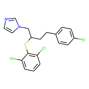 Butoconazole structure rendering