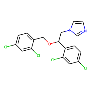 Miconazole structure rendering