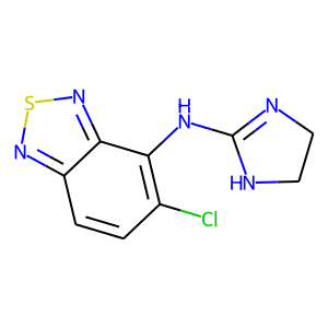 Tizanidine structure rendering