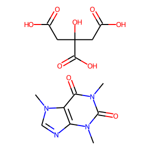 Caffeine citrate structure rendering
