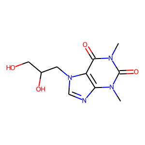 Dyphylline structure rendering
