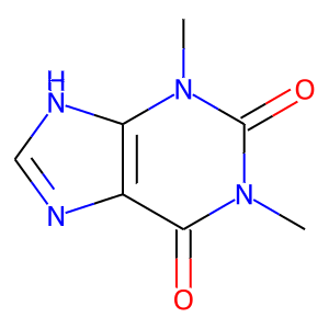 Theophylline structure rendering