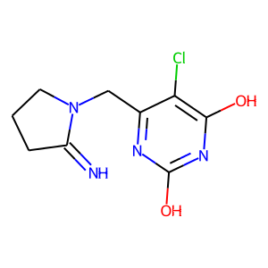 Tipiracil structure rendering