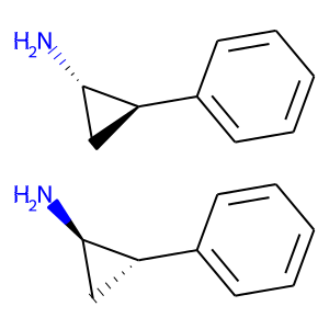 Tranylcypromine structure rendering