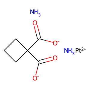 Carboplatin structure rendering
