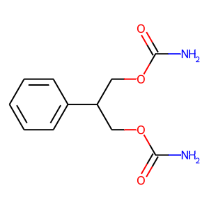 Felbamate structure rendering
