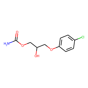 Chlorphenesin carbamate structure rendering