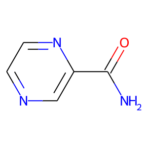 Pyrazinamide structure rendering