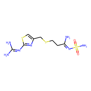 Famotidine structure rendering