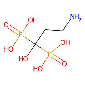 Pamidronate structure rendering