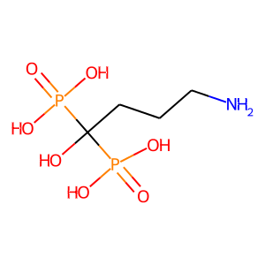 Alendronic acid structure rendering