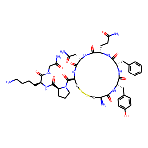 Lypressin structure rendering